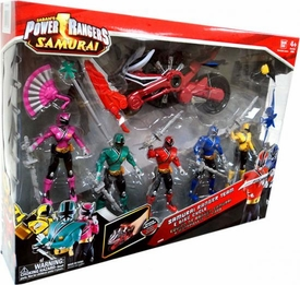 Power Rangers Samurai Action Figure 5-Pack Samurai Ranger Team & Disc Cycle [Blue, Pink, Red, Yellow & Green]