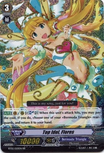Cardfight Vanguard ENGLISH Onslaught of Dragon Souls Single Card RR Rare BT02-020EN Top Idol, Flores BLOWOUT SALE!