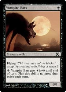 Magic the Gathering Tenth Edition Single Card Common #186 Vampire Bats