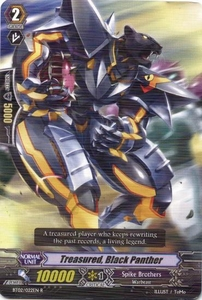 Cardfight Vanguard ENGLISH Onslaught of Dragon Souls Single Card Rare BT02-022EN Treasured, Black Panther