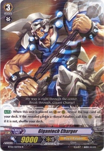 Cardfight Vanguard ENGLISH Onslaught of Dragon Souls Single Card Rare BT02-027EN Gigantech Charger