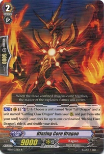 Cardfight Vanguard ENGLISH Onslaught of Dragon Souls Single Card Rare BT02-031EN Blazing Core Dragon