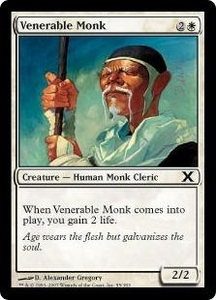 Magic the Gathering Tenth Edition Single Card Common #55 Venerable Monk