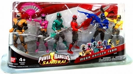 Power Rangers Samurai 4 Inch Action Figure 6-Pack Mega Ranger Team [Light, Pink, Green, Red, Blue & Yellow]