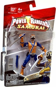 Power Rangers Samurai 4 Inch Action Figure SAMURAI Ranger Light [Blue & Gold]
