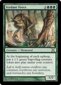 Magic the Gathering Tenth Edition Single Card Rare #307 Verdant Force