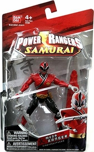 Power Rangers Samurai 4 Inch Action Figure MEGA Ranger Fire [Red]
