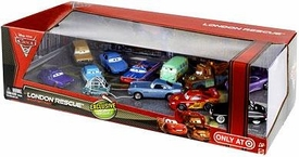Disney / Pixar CARS 2 Movie Exclusive 1:55 Die Cast Car 12-Pack London Rescue [Prof. Z, McQueen, McMissile, Mater, Shiftwell, Ramone, Fillmore, Sally, Sheriff, Victor, Crumlin & Trunkov]