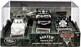 Disney / Pixar CARS TOON Exclusive 1:48 Die Cast Car 3-Pack Mater's Private Eye [Mater P.I., Lieutenant McQueen & Big D]