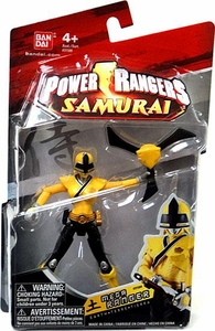 Power Rangers Samurai 4 Inch Action Figure MEGA Ranger Earth [Yellow]