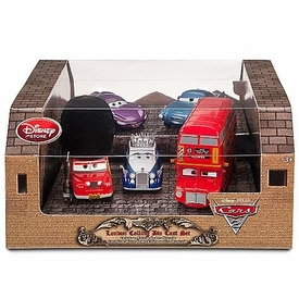Disney / Pixar CARS 2 Movie Exclusive 1:48 Die Cast Car 5-Pack London Calling[Queen, Finn, Holly, Sgt. Highgear & Topper Deckington III]