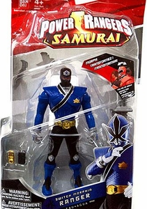 Power Rangers Samurai 6.5 Inch Action Figure SWITCH Morphin' Blue Ranger