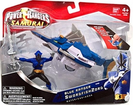 Power Rangers Samurai Vehicle & Action Figure Blue Ranger SwordfishZord [Water]