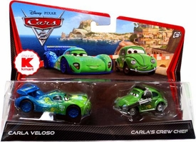 Disney / Pixar CARS 2 Movie Exclusive 1:55 Die Cast Car 2-Pack Carla Veloso & Carla's Crew Chief