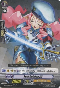 Cardfight Vanguard ENGLISH Onslaught of Dragon Souls Single Card Common BT02-057EN Soul Guiding Elf