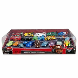Disney / Pixar CARS 2 Movie Exclusive 1:48 Die Cast Car 20 Piece Mega Pack [Includes Carla Veloso,  Lewis Hamilton, Tomber & Rip Clutchgoneski] Damaged Package, Mint Contents!