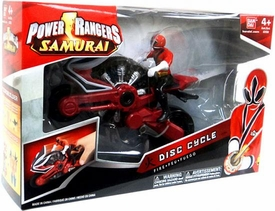 Power Rangers Samurai Disc Cycle Fire [Includes 4 Inch Red Ranger Action Figure]