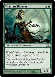 Magic the Gathering Tenth Edition Single Card Uncommon #308 Viridian Shaman