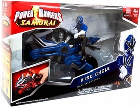 Power Rangers Samurai Disc Cycle Water [Includes 4 Inch Blue Ranger Action Figure]