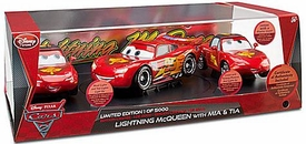 Disney / Pixar CARS 2 Movie Exclusive Limited Edition 3-Piece Die Cast Set Lightning McQueen with Mia & Tia Only 5,000 Made!