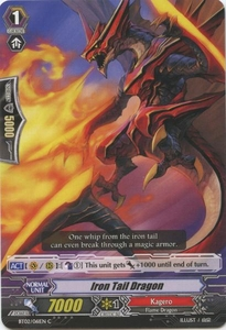 Cardfight Vanguard ENGLISH Onslaught of Dragon Souls Single Card Common BT02-061EN Iron Tail Dragon