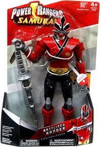 Power Rangers Samurai 10 Inch Battlized Action Figure Ranger Fire [Warrior Red with MegaMode Power]