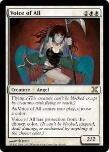 Magic the Gathering Tenth Edition Single Card Rare #56 Voice of All