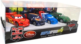 Disney / Pixar CARS 2 Movie Exclusive 1:48 Light-Up Die Cast Car 4-Pack Set #1 McQueen, Max Schnell, Raoul Caroule & Nigel Gearsley