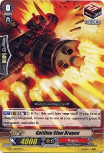 Cardfight Vanguard ENGLISH Onslaught of Dragon Souls Single Card Common BT02-064EN Gatling Claw Dragon
