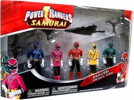 Power Rangers Samurai Exclusive Action Figure 5-Pack Samurai Ranger Team [Blue, Pink , Red, Yellow & Green]