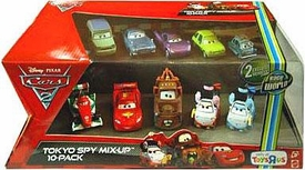 Disney / Pixar CARS 2 Movie Exclusive 1:55 Die Cast Car 10-Pack Tokyo Spy Mix-Up [Includes Okuni & Shigeko]