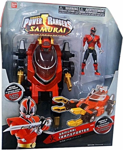 Power Rangers Morphin Vehicle with Fire Red Action Figure Samurai Transporter