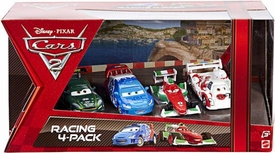 Disney / Pixar CARS 2 Movie Exclusive Die Cast Car Racing 4-Pack Nigel Gearsley, Raoul Caroule, Francesco Bernoulli & Shu Todoroki BLOWOUT SALE!
