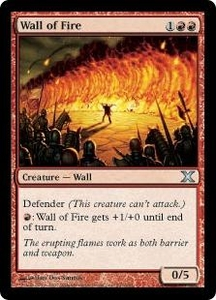 Magic the Gathering Tenth Edition Single Card Uncommon #247 Wall of Fire