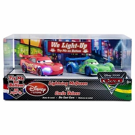 Disney / Pixar CARS 2 Movie Exclusive 1:48 Light Up Die Cast Car 2-Pack Lightning McQueen vs Carla Veloso