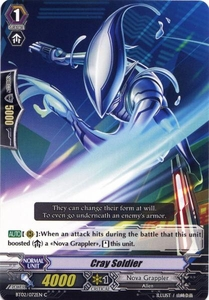 Cardfight Vanguard ENGLISH Onslaught of Dragon Souls Single Card Common BT02-072EN Cray Soldier