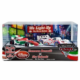 Disney / Pixar CARS 2 Movie Exclusive 1:48 Light Up Die Cast Car 2-Pack Francesco Bernoulli vs Shu Todoroki