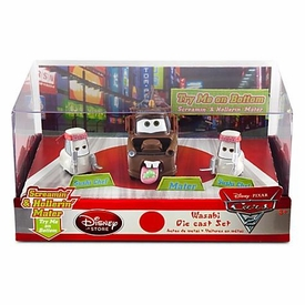 Disney / Pixar CARS 2 Movie Exclusive 1:48 Die Cast Car 3-Pack Wasabi [Screamin' & Hollerin' Mater with 2x Sushi Chefs]