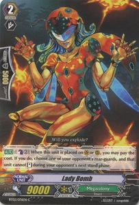 Cardfight Vanguard ENGLISH Onslaught of Dragon Souls Single Card Common BT02-076EN Lady Bomb