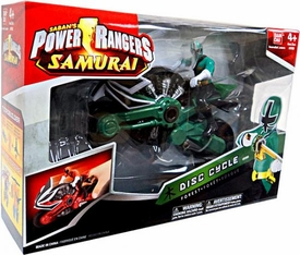 Power Rangers Samurai Disc Cycle Forest [Includes 4 Inch Green Ranger Action Figure]