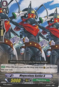 Cardfight Vanguard ENGLISH Onslaught of Dragon Souls Single Card Common BT02-078EN Megacolony Battler AA