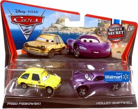 Disney / Pixar CARS 2 Movie Exclusive 1:55 Die Cast Car 2-Pack Fred Fisbowski & Holley Shiftwell [Mater's Secret Mission]