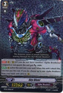 Cardfight Vanguard ENGLISH Onslaught of Dragon Souls Single Card SP Rare BT02-S01EN Sky Diver