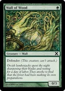 Magic the Gathering Tenth Edition Single Card Common #309 Wall of Wood