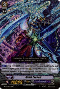 Cardfight Vanguard ENGLISH Onslaught of Dragon Souls Single Card SP Rare BT02-S02EN Spirit Exceed