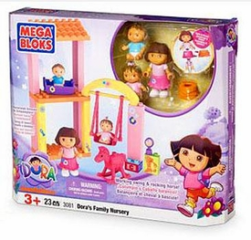 Dora The Explorer Mega Bloks Set #3081 Dora's Family Nursery