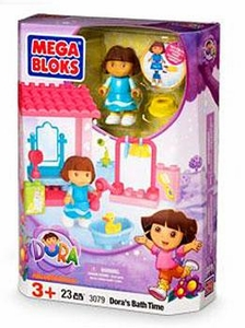 Dora The Explorer Mega Bloks Set #3079 Dora's Bath Time