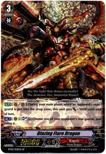 Cardfight Vanguard ENGLISH Onslaught of Dragon Souls Single Card SP Rare BT02-S05EN Blazing Flare Dragon
