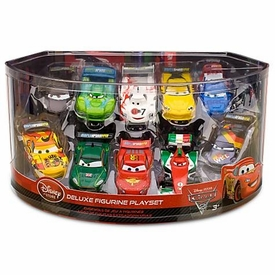 Disney / Pixar CARS 2 Movie Exclusive 1:48 PVC Plastic Car 10-Pack Deluxe Figurine Playset [Carla Velosa, Miguel Camino, Nigel Gearsley & More!]