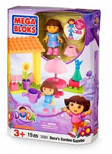 Dora The Explorer Mega Bloks Set #3080 Dora's Garden Gazebo